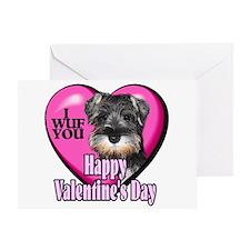 Miniature Schnauzer V-Day Greeting Card