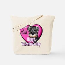 Miniature Schnauzer V-Day Tote Bag