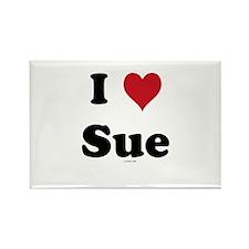 I love Sue Rectangle Magnet