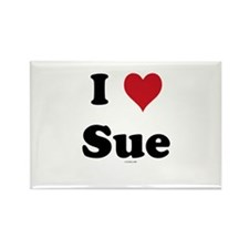 I love Sue Rectangle Magnet (10 pack)
