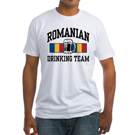 Romanian Drinking Team Fitted T-Shirt