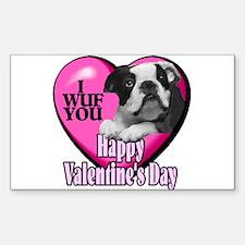 Boston Terrier V-Day Decal