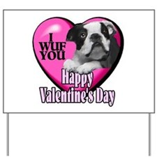 Boston Terrier V-Day Yard Sign