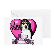 Beagle Valentines Greeting Card