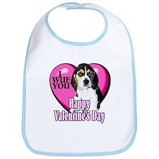 Beagle Valentines Bib