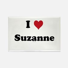 I love Suzanne Rectangle Magnet