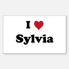 I love Sylvia Rectangle Decal