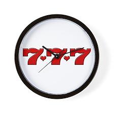 777 Hearts Wall Clock