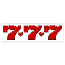 777 Hearts Bumper Bumper Sticker