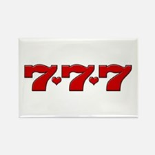 777 Hearts Rectangle Magnet