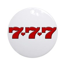 777 Hearts Ornament (Round)