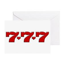 777 Hearts Greeting Card