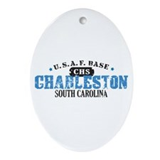Charleston Air Force Base Oval Ornament