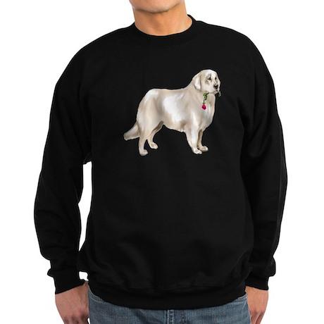 great pyrenees rose Sweatshirt (dark)