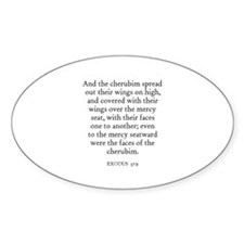 EXODUS 37:9 Oval Decal