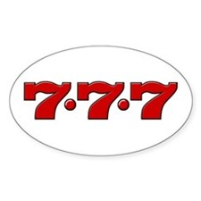 Slot Machine 777 Oval Decal