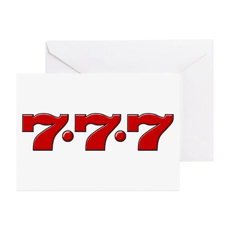 Slot Machine 777 Greeting Cards (Pk of 20)