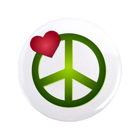"Love Peace 3.5"" Button (100 pack)"