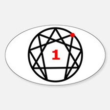 Enneagram Type 1 Oval Decal