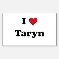 I love Taryn Rectangle Decal