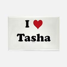 I love Tasha Rectangle Magnet