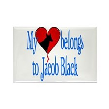 My heart belongs to Jacob Bla Rectangle Magnet