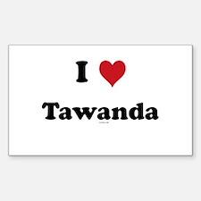 I love Tawanda Rectangle Decal