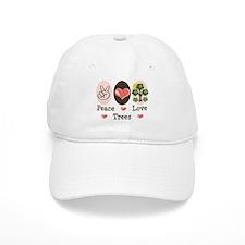 Peace Love Trees Baseball Cap