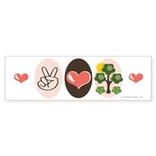 Peace Love Trees Bumper Bumper Sticker