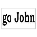 go John Rectangle Sticker