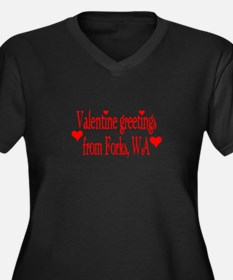Valentine greetings from Fork Women's Plus Size V-
