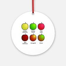 Apple Fan Ornament (Round)