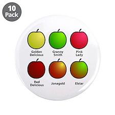 """Apple Fan 3.5"""" Button (10 pack)"""