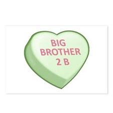 BIG BROTHER 2 B Candy Heart Postcards (Package of