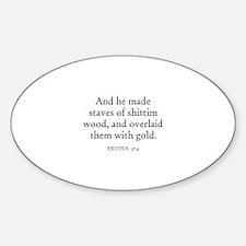 EXODUS 37:4 Oval Decal