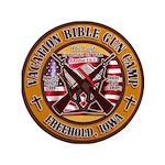 "Bible Gun Camp 2009 3.5"" Button"