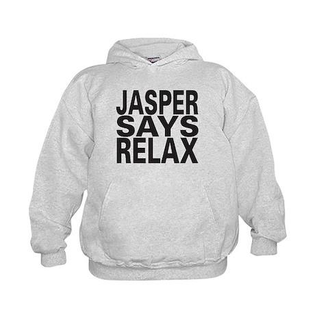 Jasper Says Relax Kids Hoodie