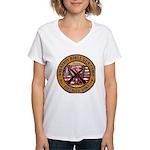Bible Gun Camp 2009 Women's V-Neck T-Shirt