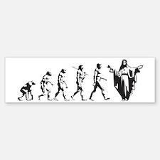 Man's Evolution Bumper Bumper Bumper Sticker