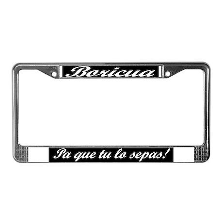 license plate frame by boricuatshirt