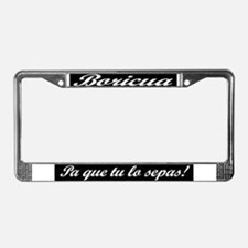 Que License Plate Frame