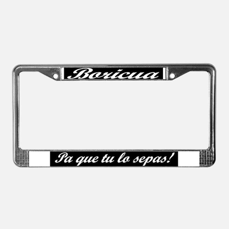 Cute Boricua License Plate Frame