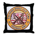 Bible Gun Camp 2009 Throw Pillow