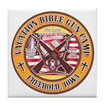 Bible Gun Camp 2009 Tile Coaster