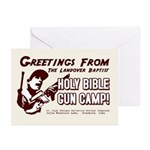 Bible Gun Camp Greeting Cards (Pk of 10)