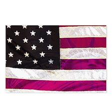 Folk Art American Flag Postcards (Package of 8)