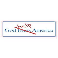 God Help America Bumper Car Sticker