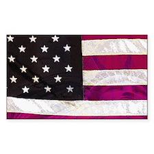 "Folk Art American Flag with Liberty 3x5"" Decal"