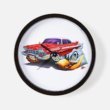 1958-59 Fury Red Car Wall Clock