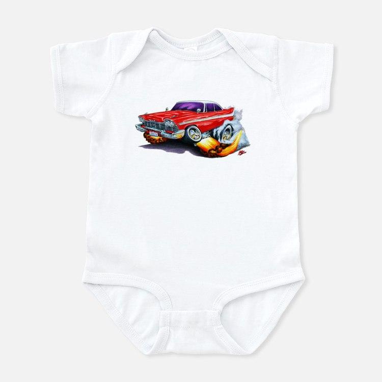 1958-59 Fury Red Car Infant Bodysuit